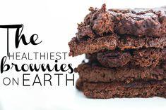 Healthy Vegan Brownies, Vegan Treats, Healthy Treats, Vegan Desserts, Vegan Recipes, Healthy Deserts, Soup Recipes, Healthy Food, Paleo