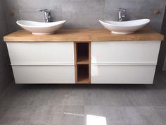 Kitchen Pantry Design, Home Decor Kitchen, Laundry Room Bathroom, Small Bathroom, Single Room Air Conditioner, Loft Style Homes, Bathroom Interior Design, Double Vanity, Vanity Tops