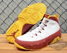 15190937aa51a0 Young Air Jordan IX Boys Shoe Bentley Ellis Summit White Dark Red  University Yellow