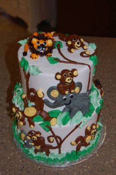 jungle theme baby shower cakes for boys | Baby Shower