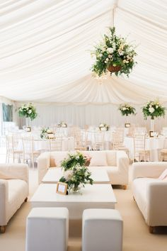 Pink & Gold Cotswolds Garden Wedding - Lounge Seating - Ideas of Lounge Seating - A classic white tented reception: www. Wedding Lounge, Tent Wedding, Wedding Receptions, Garden Wedding, Dream Wedding, Wedding Cake, All White Wedding, Elegant Wedding, Salas Lounge