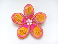 Thank you for watching my quilling flower tutorial, I hope you enjoyed watching it and give it a try. Have fun quilling! Quilling Flowers Tutorial, Paper Quilling Flowers, Quilling Work, Paper Quilling Patterns, Quilling Paper Craft, Flower Tutorial, Paper Crafts, Quilling Videos, Paper Quilling For Beginners