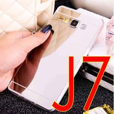 Coque Clear Silicon Plastic Soft Transparent Mirror TPU Case For Samsung Galaxy J7 J5 J3 J1 2015 Gold Silver Back Cover