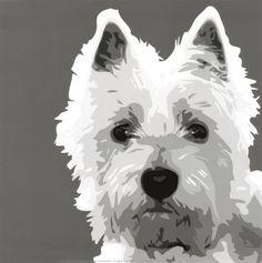 Doggie pop art--Westhighland terrier