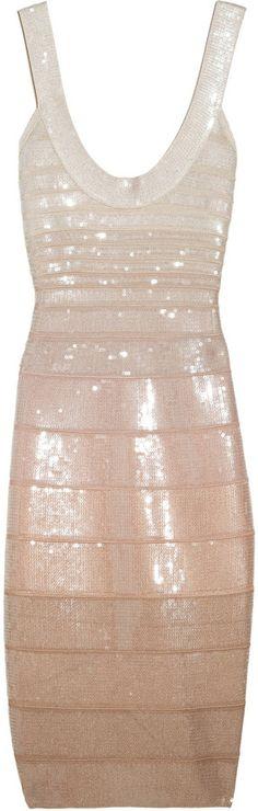 Herve Leger Hervé Léger Sequined Bandage dress