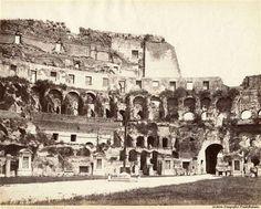 Vista interna del Colosseo, Roma 1865 c.a.. Foto: Giorgio Sommer. Archivio Fotografico FondoRomano.