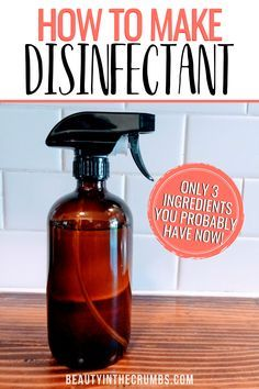 DIY Lysol Recipe (Natural) Homemade Disinfecting Spray Learn how to make this DIY disinfecting spray that is all natural, non toxic, cheap, and works like Lysol. This spray uses essential oils and powerful ingredients to disinfect and sanitize. Homemade Cleaning Supplies, Diy Home Cleaning, Household Cleaning Tips, Cleaning Recipes, House Cleaning Tips, Cleaning Hacks, Green Cleaning, Cleaning Wood, Household Cleaners