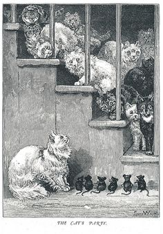 The Cats Party  ~ Louis Wain
