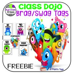 Class Dojo Brag/Swag Tags by First Grade Stripes Class Dojo Rewards, Behavior Incentives, Student Behavior, First Grade Classroom, Primary Classroom, Classroom Ideas, Classroom Design, Google Classroom, Classroom Organisation