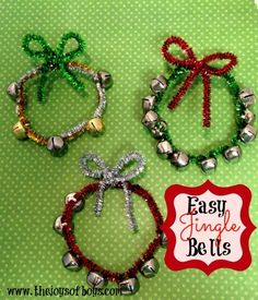 This easy Jingle Bells craft is so fun! And it would be a cute Christmas tree ornament. #christmas #christmascrafts #JingleBells