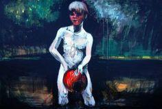 "Saatchi Art Artist Kasia Gawron; Painting, ""Boy"" #art"