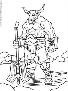 9 mythical creatures coloring pages: fauns, minotaurs and the ... - Mythical Creatures Coloring Pages