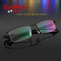 aa0511432a Brand Prescription glasses titanium half-rim frame eyeglasses business men  spectacle frame eyeglasses Myopia glasses titanium