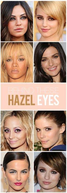 Hazel Eyes - the best eyeshadow looks for green/brown eyes.