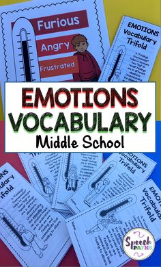 Target emotions and social skills with middle school students.  Over 40 no-prep activities!