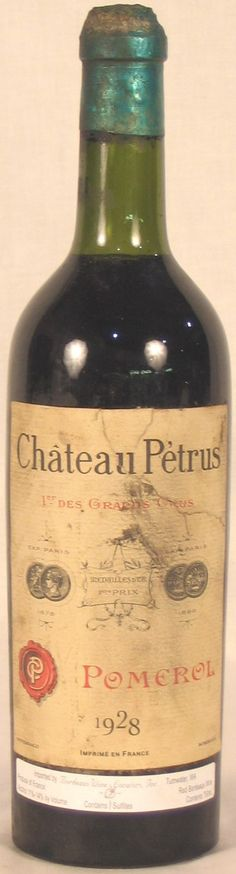 My Wine Wish List - a 1928 Petrus Pomerol (Mise Negociant). A true piece of history! Rare Wine, Food Pairing, Bordeaux Wine, White Wines, Wine Cellars, French Wine, Vintage Wine, Bacchus, Liqueurs