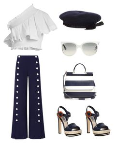 """""""Bonjour"""" by im-karla-with-a-k ❤ liked on Polyvore featuring CECILIE Copenhagen, Tory Burch, Ray-Ban, Chanel, Dolce&Gabbana and Prada"""