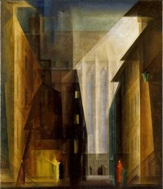Lyonel Feininger uses rich hues and high value contrast in his cubist painting Church of the Minorities II Sgraffito, Modern Art, Contemporary Art, Expressionist Artists, Wassily Kandinsky, Abstract Art, Fine Art, Architecture, Illustration