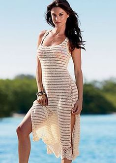 silk/cotton crochet dress  $25