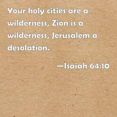 Isaiah 64 and 10