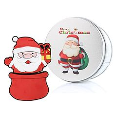 Christmas Santa Gift 16G USB Flash Drive Memory Stick Data Storage Device  Metal Box Packing Novelty Cute Gift  Present *** Click on the image for additional details. (Note:Amazon affiliate link) #ComputersAccessories