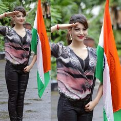 Image may contain: 2 people, people standing and people dancing Indian Film Actress, Indian Actresses, Indian Flag Images, Freedom Fighters Of India, Indian Army Quotes, Independence Day India, People Dancing, Republic Day, Most Beautiful Indian Actress
