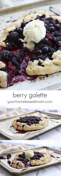 """Berry Galette Recipe - A Berry Galette is a rustic version of a berry pie and means """"flat pie"""" in French.  It's  the perfect way to enjoy all those summer berries.  BERRY GALETTE """"FLAT PIE"""" DESSERT RECIPE"""