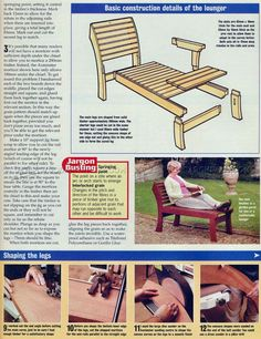 Garden Lounger Plans - Outdoor Furniture Plans