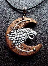 Amulett Wolfskopf Mittelalter LARP Schmuck