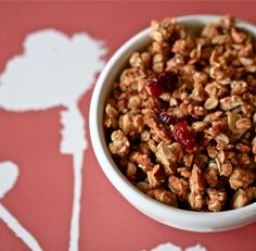 Chewy Granola- seriously the best granola recipe I've tried. It clusters up quite nicely, plus, you can add anything you'd like.