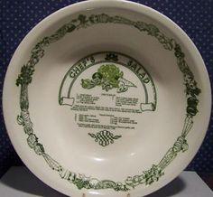 Royal China Ceramic Garden Classics Chefs Salad Recipe Serving Bowl