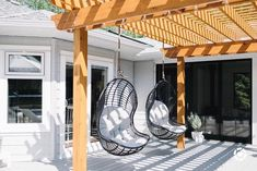 Shop this pic from Diy Pergola, Outdoor Pergola, Backyard Patio, Hanging Swing Chair, Swinging Chair, Hanging Chairs, Hanging Plants, Patio Chairs, Outdoor Chairs