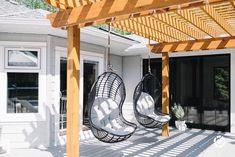 Shop this pic from Diy Pergola, Outdoor Pergola, Outdoor Chairs, Outdoor Decor, Outdoor Swing Chair, Hanging Swing Chair, Swinging Chair, Hanging Chairs, Hanging Plants