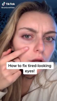 Hacks how to fix tired eyes Makeup Techniques eyes Fix hacks Makeup Techniques for older women tired Beauty Tips For Glowing Skin, Clear Skin Tips, Health And Beauty Tips, Beauty Skin, Tired Eyes, Healthy Skin Tips, Face Yoga, Face Massage, Face Skin Care