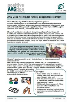 AAC Does Not Hinder Natural Speech Development from Rocky Bay - Discovering Abilities