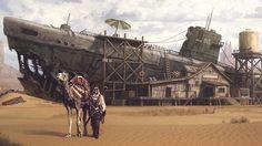 post apocalyptic desert concept art - Google Search