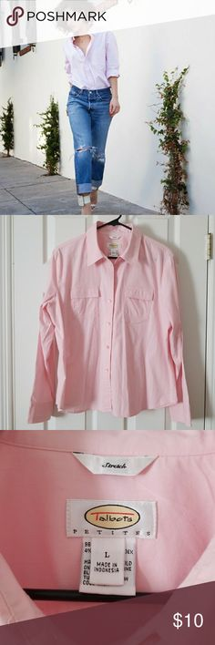 Spotted while shopping on Poshmark: BNWOT! TALBOTS PINK BUTTON UP SHIRT! WITH STRETCH!! #poshmark #fashion #shopping #style #Talbots #Tops