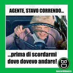 #nonna alla guida! #bastardidentro #auto #ipnoticamentebastardidentro www.bastardidentro.it