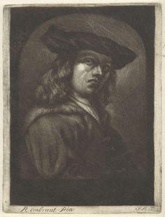 Monogrammist JM (18e eeuw) | Jonge man met een platte baret, Monogrammist JM (18e eeuw), 1675 - 1775 |