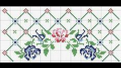 Cross Stitch Borders, Cross Stitch Rose, Cross Stitch Designs, Cross Stitch Embroidery, Cross Stitch Patterns, Stitch Cartoon, Felt Gifts, Palestinian Embroidery, Crochet Decoration