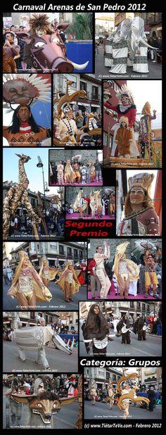 Carnaval de Adultos 2012 de Arenas de San Pedro. Grupo de El Rey León. Segundo Premio.