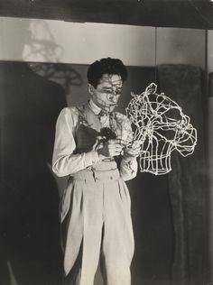 Jean Cocteau by Man Ray. 1930.