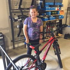 Emily is ready to roll this summer with her new bike #fitness #freedom #fun