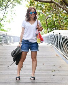 white tee and denim