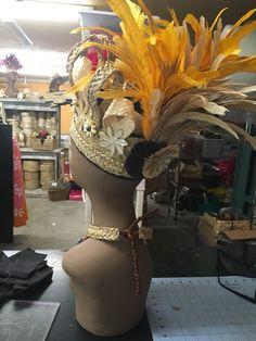 Casco de Tahitian corona reversible otea por hulamelani en Etsy