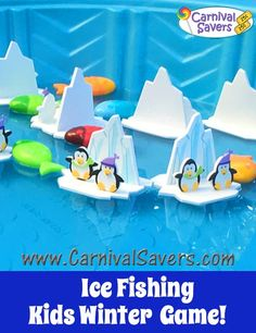 Ice Fishing - Winter Festival Game for Kids! Christmas Carnival, Christmas Party Games, Birthday Party Games, Christmas Fun, Party Party, Xmas, Carnival Booths, Carnival Games, Winter Games