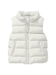 The Gap little girls' coats and jackets collection is available in a variety of styles Find denim jackets and cute coats made with quality fabric and design. Toddler Vest, Toddler Boots, Toddler Girl Outfits, Little Girls Coats, Pink Wool Coat, White Puffer Vest, Puff Vest, Leopard Print Boots, Cute Coats