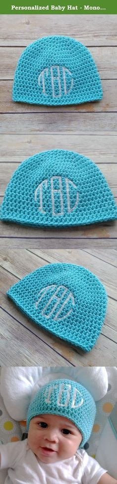 Personalized Baby Hat - Monogrammed Gift - Crochet Cauldron. This baby hat is hand crocheted of high quality turquoise 100% acrylic yarn, then embroidered with your little one's initials. When stating the initials, please list them in the exact order you want. For example, enter first small initial = X, middle large initial = X, last small initial = X. Typically, when doing a monogram, most people use the first initial of their last name as the large initial in the middle. Hat Sizing…