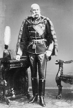 The Austrian Emperor Franz Joseph I in a Hungarian uniform.