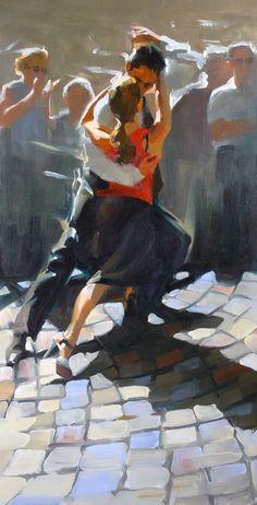 Paul Hedley I can't help it, I'm a sucker for a tango! Tango Art, Art Watercolor, Dance Paintings, Argentine Tango, Shall We Dance, Beautiful Paintings, Figurative Art, Traditional Art, Illustration Art